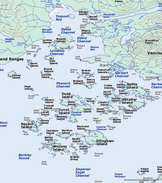 Broken Group Island Map