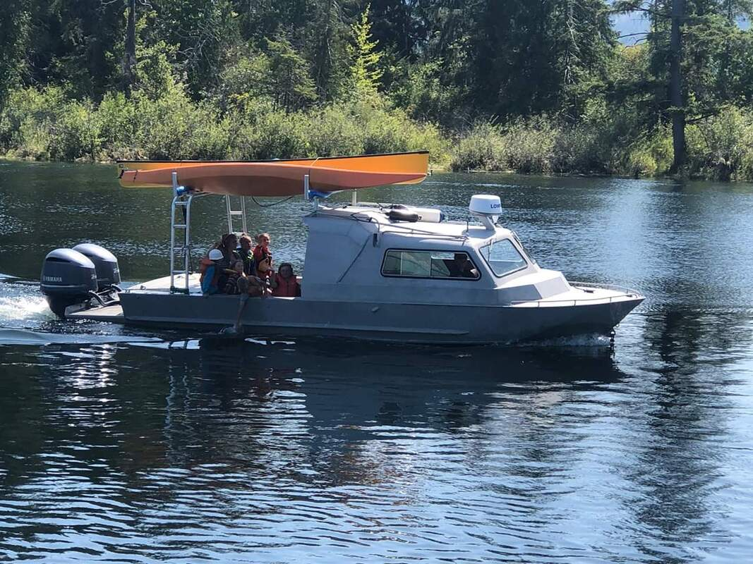 Seabear water taxi docking in Barkley Sound.
